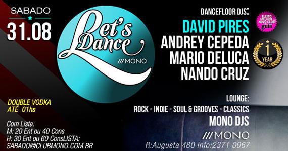 Mono Club tem festa Lets Dance para embalar o sábado a noite com convidados Eventos BaresSP 570x300 imagem