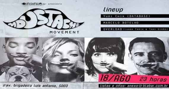 Movimento Moustache promete agitar a noite de sábado no Blá Bar Eventos BaresSP 570x300 imagem