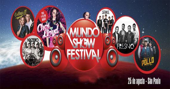 Fresno, Pollo, Cher Lloyd reunidos no Mundo Show Festival, no Espaço das Américas Eventos BaresSP 570x300 imagem