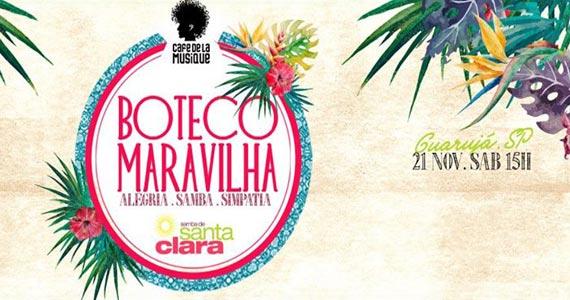 Samba de Santa Clara agita o Café de la Musique Beach Club Eventos BaresSP 570x300 imagem