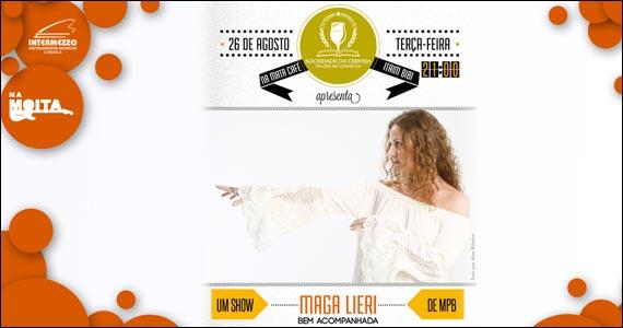 Apresentação da cantora Maga Lieri no palco do Na Mata Café Eventos BaresSP 570x300 imagem