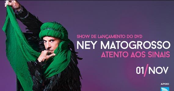 Show de lançamento do DVD de Ney Matogrosso Atento Aos Sinais acontece no Espaço das Américas Eventos BaresSP 570x300 imagem