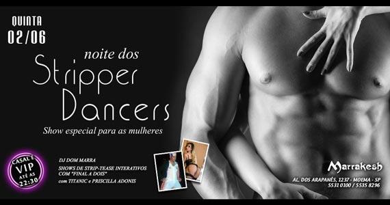 Noite dos Stripper Dancers com DJ Marra quinta-feira no Marrakesh Club Eventos BaresSP 570x300 imagem