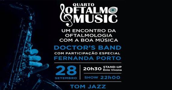 Tom Jazz recebe o 4º Oftalmo Music com o Doctor's Band no sábado Eventos BaresSP 570x300 imagem