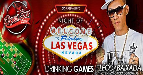 festa Night Of Las Vegas com Léo da Baixada agita a sexta-feira do Open Bar Club Eventos BaresSP 570x300 imagem