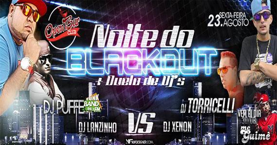 Noite do Blackout e Duelo de DJs animam a sexta-feira do Open Bar Club Eventos BaresSP 570x300 imagem