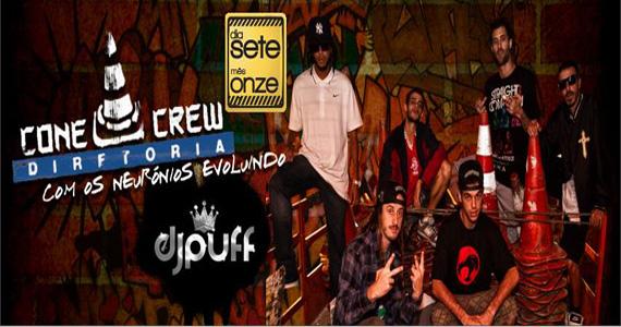 ConeCrew Diretoria e DJ Puff agitam a noite de quinta-feira da Outlaws Eventos BaresSP 570x300 imagem