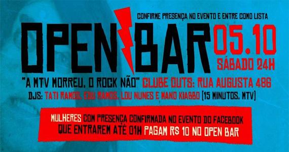 OUTs promove festa open bar para homenagear o fim da MTV - Rota do Rock Eventos BaresSP 570x300 imagem