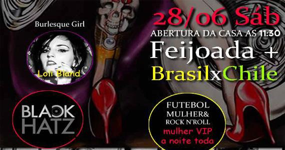 Feijoada com muito rock e jogo do Brasil x Chile neste sábado no Ozzie Pub Eventos BaresSP 570x300 imagem