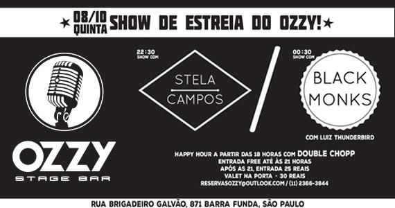 Ozzy Stage Bar reabre com show de Stela Campos e banda Black Monks nesta quinta-feira Eventos BaresSP 570x300 imagem