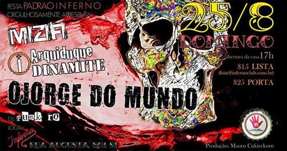 Inferno Club apresenta neste domingo a festa Padrão Inferno com bandas convidadas Eventos BaresSP 570x300 imagem