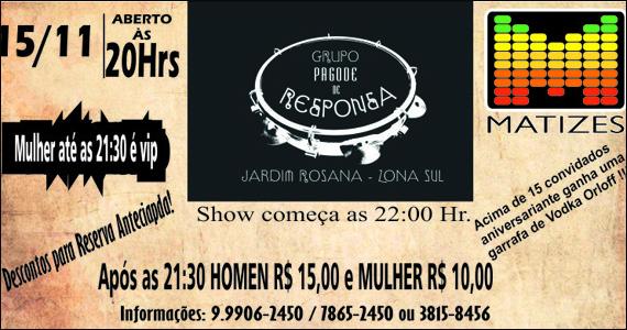 Matizes Bar, localizado na Vila Madalena apresenta Pagode de Responsa Eventos BaresSP 570x300 imagem