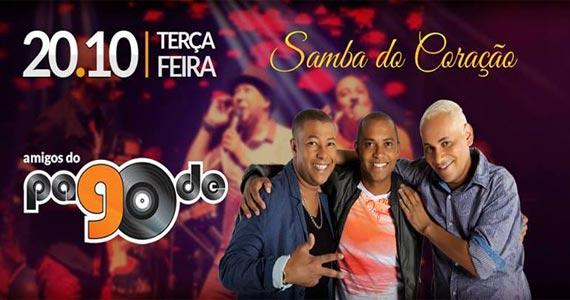 Grupo Amigos do Pagode 90 canta sucessos da carreira no Coração Sertanejo Eventos BaresSP 570x300 imagem