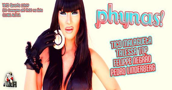 Festa Phynas com Deejéia Talessa e DJ convidados na quarta-feira na A Lôca Eventos BaresSP 570x300 imagem