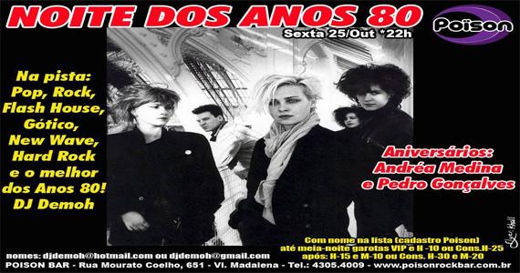 Noite dos Anos 80 com DJ Demoh agita a noite de sexta-feira no Poison Bar e Balada Eventos BaresSP 570x300 imagem