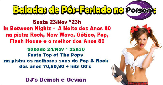 Festa In Between Nights a Noite dos Anos 80 anima o Poïson Bar e Balada Eventos BaresSP 570x300 imagem