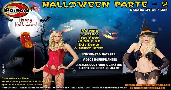 Festa de Halloween Parte 2 embala a noite de sábado no Poison Bar e Balada - Rota do Rock Eventos BaresSP 570x300 imagem