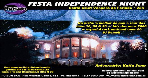 Festa Independence Night agita a noite de sexta-feira no Poison Bar e Balada - Rota do Rock Eventos BaresSP 570x300 imagem
