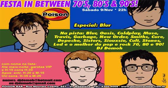 Poison Bar e Balada recebe festa In Between 70, 80 e 90 para animar a noite de sábado Eventos BaresSP 570x300 imagem