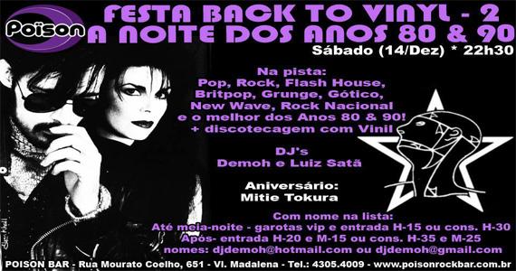 Festa Back to Vinyl 2 com DJs animando a noite de sabado no Poison Bar e Balada Eventos BaresSP 570x300 imagem