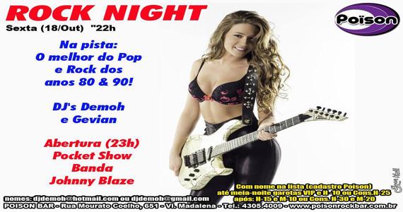 Poison Bar e Balada recebe a festa Rock Night para embalar a noite de sexta-feira  Eventos BaresSP 570x300 imagem