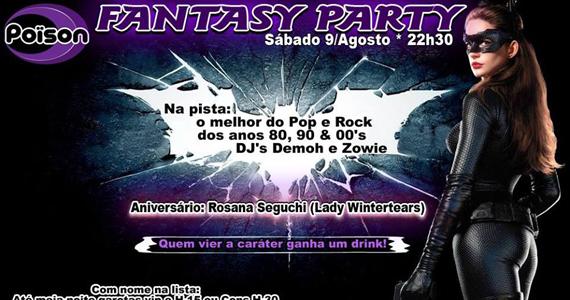 Fantasy Party com muita música com os DJs Demoh e Zowie no Poison Bar e Balada Eventos BaresSP 570x300 imagem