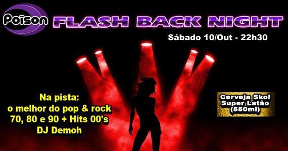 Flash Back Night com DJ Demoh animando o sábado no Poison Bar e Balada Eventos BaresSP 570x300 imagem