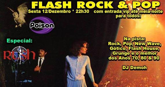 Flash Rock & Pop nesta sexta-feira no Poison Bar e Balada Eventos BaresSP 570x300 imagem