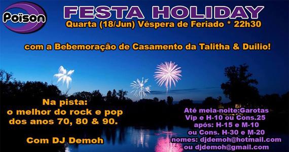 Festa Holiday com muito pop rock agitando a véspera de feriado no Poison Bar e Balada Eventos BaresSP 570x300 imagem