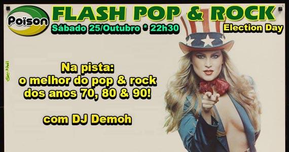 Flash Pop & rock com DJ Demoh animando o sábado do Poison Bar e Balada Eventos BaresSP 570x300 imagem