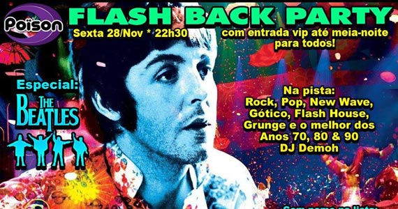 Flash Back Party especial Beatles com DJ Demoh no Poison Bar e Balada Eventos BaresSP 570x300 imagem