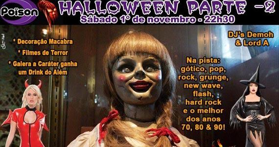 Festa de Halloween parte 2 com DJs Demoh e Lord A no Poison Bar e Balada Eventos BaresSP 570x300 imagem