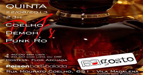 Poison Bar e Balada estreia festa A Gosto nesta quinta-feira Eventos BaresSP 570x300 imagem