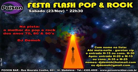 Festa Flash Pop & Rock animam a noite de sábado no Poison Bar e Balada Eventos BaresSP 570x300 imagem