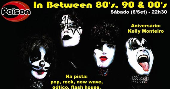 Festa In Between 80, 90 e 00 neste sábado animando a noite do Poison Bar e Balada Eventos BaresSP 570x300 imagem