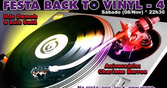 Festa Back To Vinyl 4 com DJs Demoh e Luiz Satã neste sábado no Poison Bar e Balada Eventos BaresSP 570x300 imagem