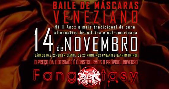 Baile de Máscaras Veneziano na festa Fangxtasy sábado no Poison Bar e Balada Eventos BaresSP 570x300 imagem