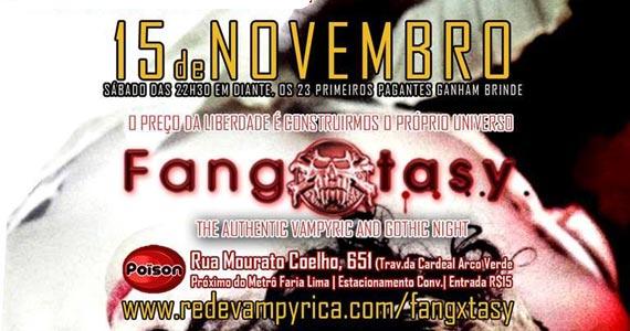 Festa Fangxtasy com DJs convidados animando o sábado do Poison Bar e Balada Eventos BaresSP 570x300 imagem