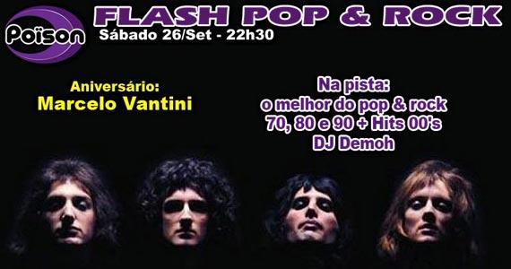 Poison Bar e Balada recebe os agitos da festa Flash Pop & Rock no sábado Eventos BaresSP 570x300 imagem