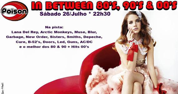 In Between 80, 90 e 00 neste sábado com  DJ Demoh no Poison Bar e Balada Eventos BaresSP 570x300 imagem