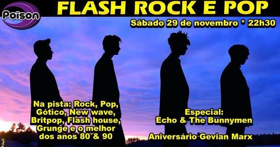 Flash Rock e Pop com DJs Demoh e Gevian animando a noite de sábado do Poison Bar e Balada Eventos BaresSP 570x300 imagem