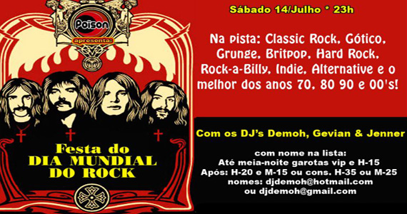 Poison continua a celebrar o Dia do Rock no sábado Eventos BaresSP 570x300 imagem