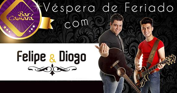 Sertanejo com a dupla Felipe & Diego na véspera de feriado no Bar Camará Eventos BaresSP 570x300 imagem