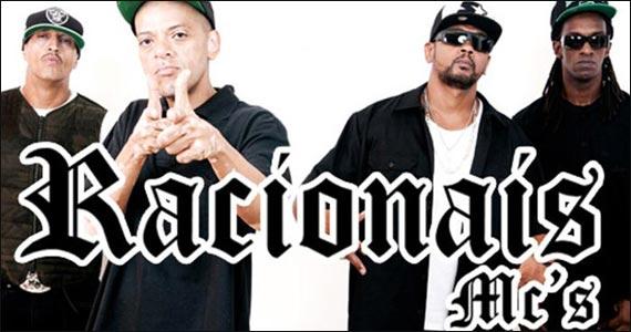 Show do grupo de rap nacional Racionais MC's no palco do Sesc Rio Preto Eventos BaresSP 570x300 imagem