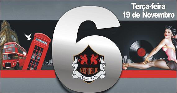 Republic Pub comemora 6 anos com festa de aniversário com as bandas Monk e Mr. Burns Eventos BaresSP 570x300 imagem
