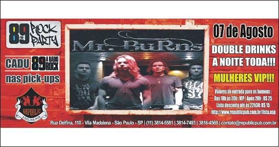 Republic Pub embala a noite com apresentação da Banda Mr. Burns - Rota do Rock Eventos BaresSP 570x300 imagem