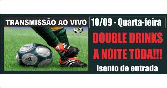 Transmissão dos melhores lances do futebol na tela do Republic  Eventos BaresSP 570x300 imagem
