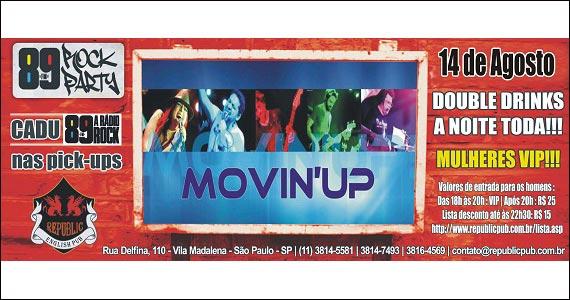 Apresentaçãoda banda Movin'up no palco do Republic Pub Eventos BaresSP 570x300 imagem
