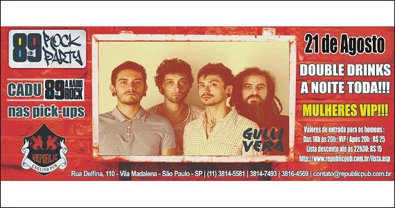 Republic Pub recebe os agitos da banda Gullivera - 89 Rock Party Eventos BaresSP 570x300 imagem