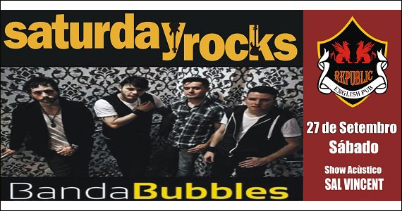 Republic Pub embala a noite ao som de Sal Vincent & Banda Bubbles no sábado Eventos BaresSP 570x300 imagem